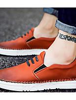 Masculino sapatos Micofibra Sintética PU Primavera Outono Conforto Tênis Para Casual Preto Laranja Cinzento