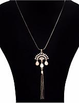 Жен. Ожерелья с подвесками Стразы Синтетический опал В форме короны Сплав Бижутерия Назначение Для вечеринок Повседневные