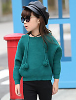 Girls' Solid Blouse,Cotton Fall