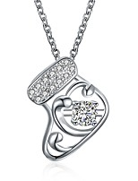 Women's Pendant Necklaces Jewelry Zircon Gold Plated Fashion Jewelry For Christmas