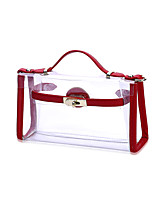 Donna Sacchetti Per tutte le stagioni Plastica Tote Bottoni per Shopping Casual Nero Rosso Rosa Grigio