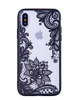 economico -Custodia Per Apple iPhone X iPhone 8 Fantasia/disegno Per retro La stampa in pizzo Resistente PC per iPhone X iPhone 8 Plus iPhone 8