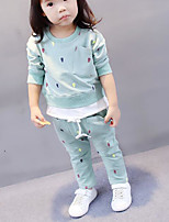 Girls' Polka Dots Sets,Cotton Fall Clothing Set