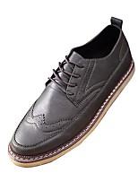 Masculino sapatos Couro Primavera Outono Conforto Oxfords Cadarço Para Casual Preto Cinzento Amarelo
