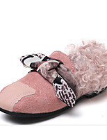 Girls' Shoes Leatherette Fall Winter Comfort Flats For Casual Almond Blushing Pink Coffee