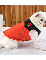 Dog Vest Dog Clothes Warm Casual/Daily Solid Costume For Pets