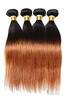 Remy Cabelo Brasileiro Côr Misturada Alta qualidade Reto Anos 30 Extensões de cabelo Preto / Medium Auburn