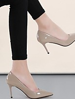 Women's Shoes Real Leather Spring Fall Basic Pump Heels Stiletto Heel For Casual Almond Green Gray Black