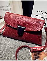 Women Bags PU Shoulder Bag Zipper for Casual All Seasons Black Silver Red