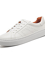 Women's Shoes PU Spring Fall Comfort Sneakers For Casual Silver Black White