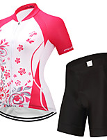 FUALRNY® Cycling Jersey with Shorts Women's Short Sleeves Bike Clothing Suits Reflective Strip Quick Dry Breathability High Elasticity