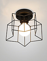 Rustic/Lodge Retro Flush Mount For Bedroom Dining Room 220V 110VV Bulb Not Included