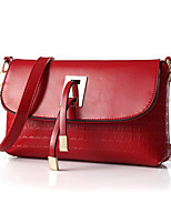 Women Bags All Seasons PU Shoulder Bag Zipper for Casual Red
