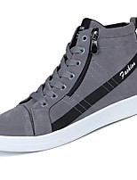 Men's Shoes Rubber Fall Comfort Sneakers Lace-up For Outdoor Yellow Gray Black