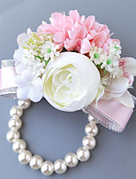 Wedding Flowers Wrist Corsages Wedding Polyester 3.94