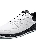 Men's Shoes PU Spring Fall Comfort Sneakers Lace-up For Casual White Black Black/White