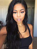 Women Human Hair Lace Wig Brazilian Human Hair Glueless Lace Front 150% Density With Baby Hair Wavy Wig Black Long Natural Hairline