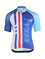 Cycling Jersey Men's Short Sleeves Bike Sweatshirt Top Breathability Terylene Letter & Number Summer Running/Jogging Mountain Cycling