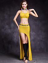 Shall We Belly Dance Outfits Women's Training Modal Spandex Sleeveless Dropped Skirts Tops Waist Accessory