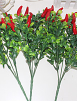 34cm 3 Pcs 15 peppers 5 branches/pc  Artificial Plants Hot Peppers Chili