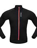 WOSAWE Cycling Jersey Unisex Long Sleeves Bike Jersey Top Stretchy Polyester Solid Classic Autumn/Fall Spring Mountain Cycling Road