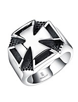 Women's Knuckle Ring Synthetic Ruby Hip-Hop Personalized Stainless Steel Titanium Steel Cross Geometric Jewelry For Halloween Street