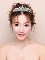 Women's Rhinestone Fashion Alloy Earrings Hair Jewelry Necklace For Wedding Evening Party Wedding Gifts