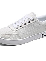 Для мужчин обувь Полиуретан Весна Осень Удобная обувь Кеды Назначение Повседневные Белый Черный Бежевый