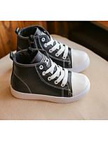 Fille Chaussures Polyuréthane Automne Confort Basket Pour Décontracté Blanc Noir