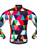 WOSAWE Cycling Jersey Unisex Long Sleeves Bike Jersey Top Breathability Polyester Fashion Autumn/Fall Spring Mountain Cycling Road