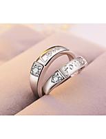 Homens Mulheres Anéis Grossos Prata Chapeada Formato Circular Jóias Para Encontro