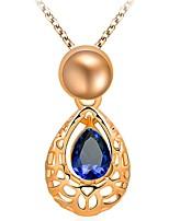 Women's Pendant Necklaces Cubic Zirconia Drop Zircon Alloy Luxury Elegant Jewelry For Wedding Daily