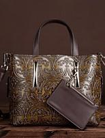 Women Bags All Seasons PVC Tote Zipper for Casual Coffee
