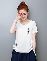 T-shirt Da donna Casual Romantico Con stampe Rotonda Cotone Manica corta