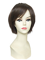 Women Synthetic Wig Capless Short Ash Brown Bob Haircut With Bangs Lolita Wig Celebrity Wig Cosplay Wig Natural Wigs Costume Wig