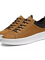 Men's Shoes PVC Leather PU Leatherette Spring Fall Comfort Sneakers Lace-up For Casual Brown Black