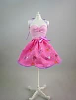 por Muñeca Barbie  Rosado Estampado Vestido por Chica de muñeca de juguete