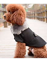 Dog Vest Dog Clothes Casual/Daily Solid Black Gray