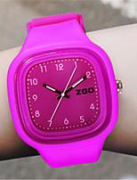 Women's Fashion Watch Quartz Silicone Band Orange Green Purple Yellow