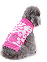 Dog Sweater Dog Clothes Casual/Daily Hearts Pink