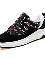 Homme Chaussures Tissu Automne Confort Basket Lacet Pour Noir Arc-en-ciel