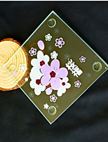 Beter Gifts® Asian Gifts - Cherry Blossom Love Glass Coaster Wedding Party Favors