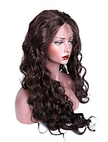 Women Synthetic Wig Lace Front Long Body Wave Dark Brown With Baby Hair Halloween Wig Long Natural Wigs Costume Wig