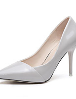 Women's Shoes Patent Leather Spring Fall Comfort Basic Pump Heels For Casual White Black Red Pink
