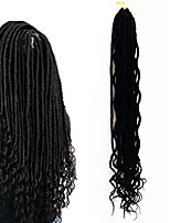 Dread Locks Hair Braid Curly Ombre Braiding Hair 100% Kanekalon Hair Black/Burgundy Black/Strawberry Blonde Burgundy Medium Auburn
