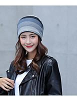 Women's Wool Cotton Floppy Hat,Hat Striped Fall Winter