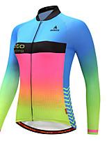 Miloto Cycling Jersey Women's Long Sleeves Bike Jersey Reflective Strip Autumn/Fall Winter Cycling Luminous