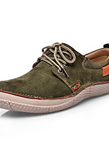 Men's Shoes Cowhide Spring Fall Comfort Sneakers For Casual Dark Blue Light Yellow Army Green