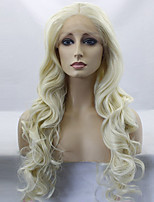 Women Synthetic Wig Lace Front Long Body Wave Blonde Middle Part Sew in Natural Wigs Costume Wig