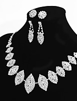 Women's Chain Necklaces Oval Rhinestone Alloy Basic Statement Jewelry Jewelry For Wedding Party Engagement